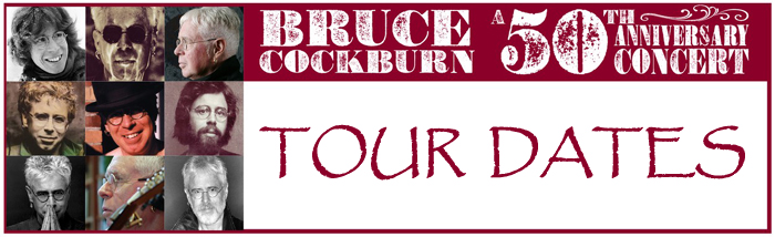 Bruce Cockburn's 50th Anniversary banner