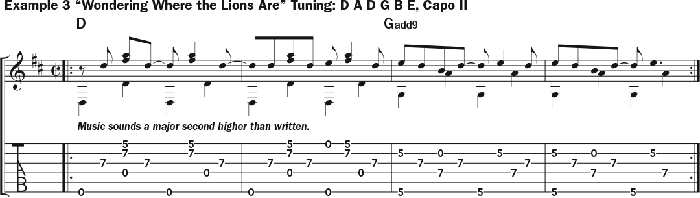 Bruce Cockburn - chords Example 3 - Wondering Where The Lions Are