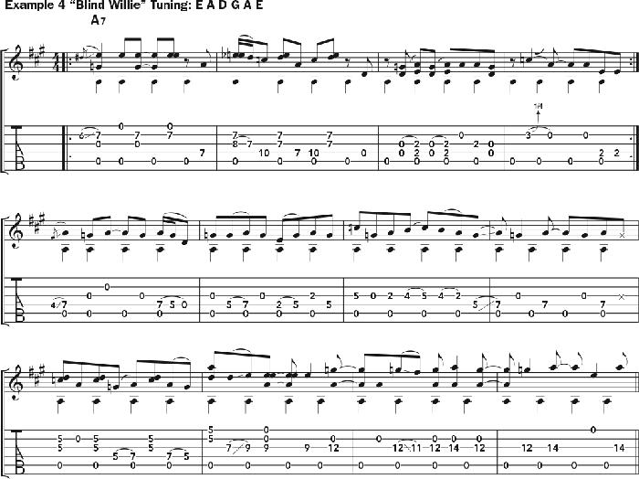 Bruce Cockburn - chords Example 4 - Blind Willie