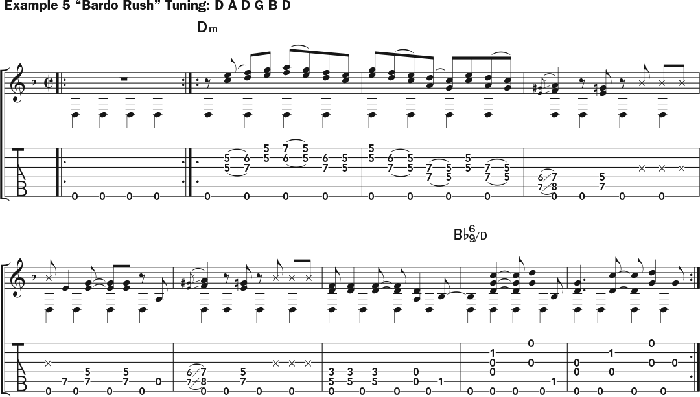 Bruce Cockburn - chords Example 5 - Bardo Rush