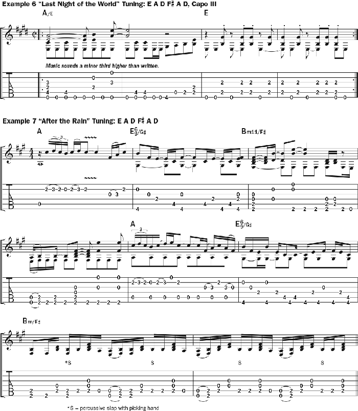 Bruce Cockburn - chords Example 6-7 - Last Night of the World - After The Rain