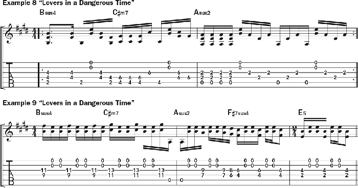 Bruce Cockburn - chords Example 8-9- Lovers In A Dangerous Time