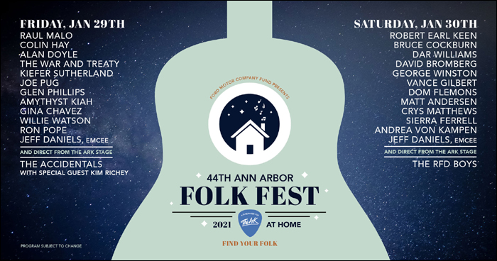 Ann Arbor Folk Fest - The Ark - stream