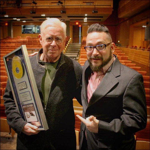 Bruce Cockburn receives 6X Platinum award for Christmas album from True North Records – 18 February 2016 - Brad Machry