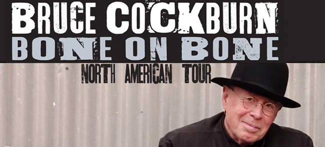 Bruce Cockburn - Bone On Bone - tour dates