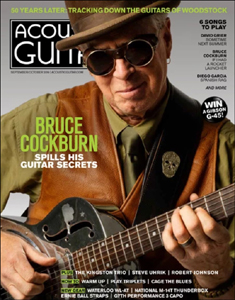 Bruce Cockburn - Acoustic Guitar Magazine cover Sept-Oct 2019 edition