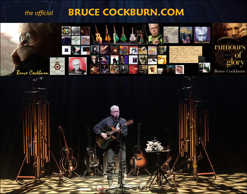 Bruce Cockburn.com - new website promo - photo justaclick_photography