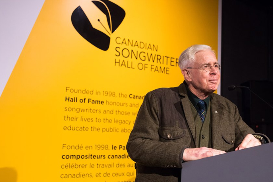 Bruce Cockburn - NMC - CSHF plaque ceremony - speech