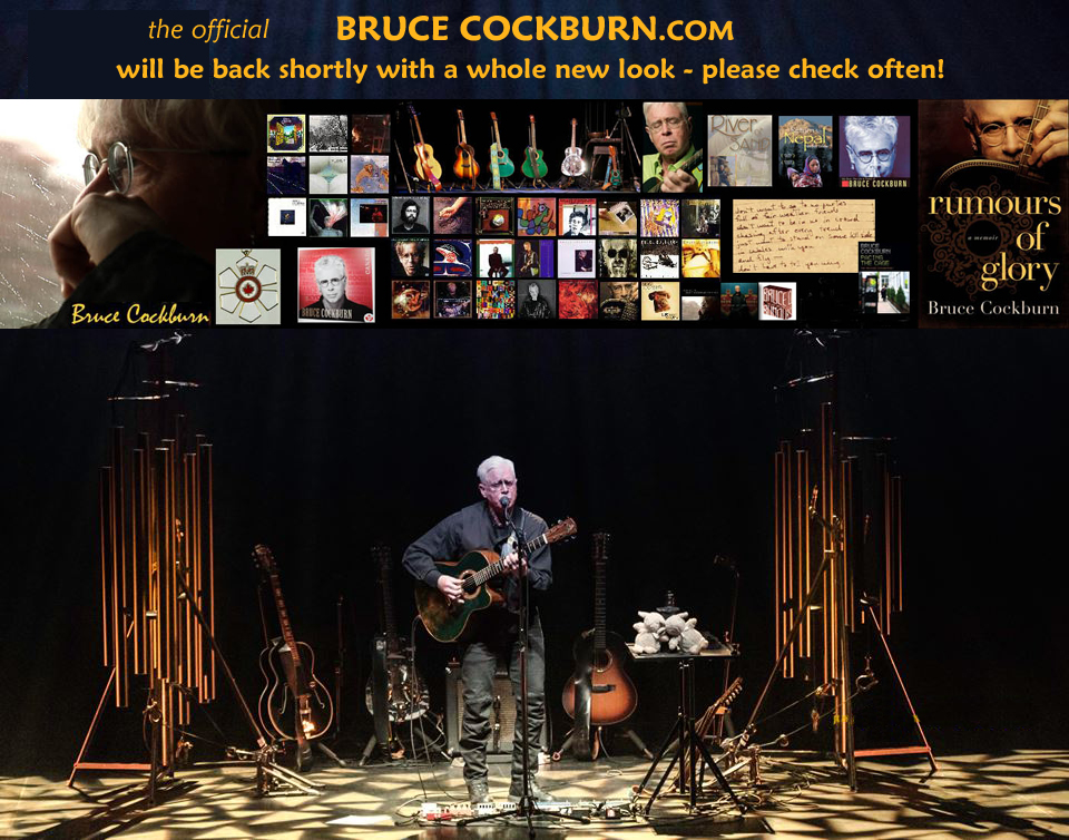 Bruce Cockburn - splash page - photo Justaclick Photography - Al Pettman