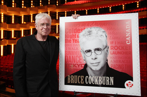 Bruce Cockburn gets stamped