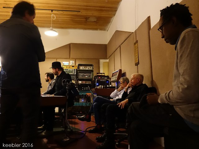 Bruce Cockburn & band mates - Prairie Sun Recording Studio - 17 November 2016