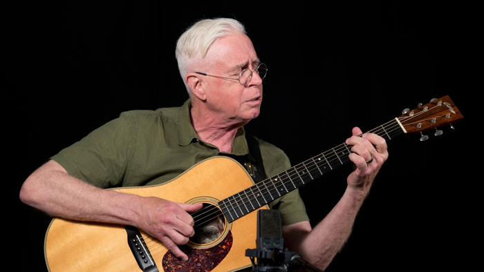 Bruce Cockburn Live WFUV studio photo Nora Doyle July 2019