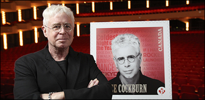 Bruce Cockburn gets stamped - photo True North Records