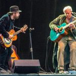 Colin Linden & Bruce Cockburn - Vancouver Island MusicFest 2017 - photo Chris Brown