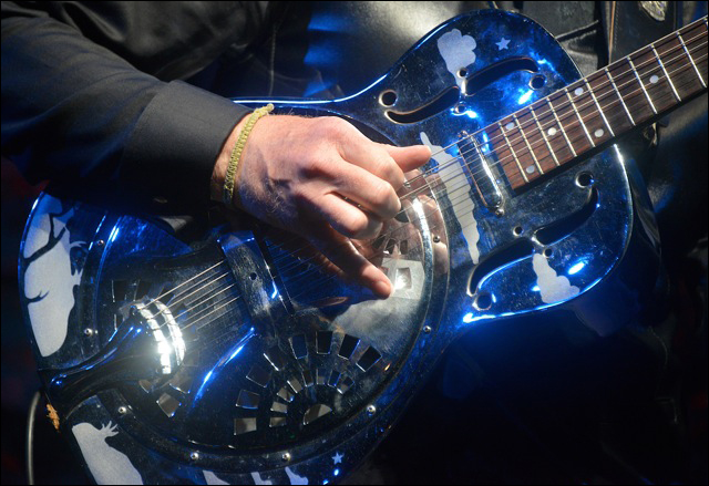 Bruce Cockburn - Dobro guitar - Photo courtesy of Agnes Patak - April 2014