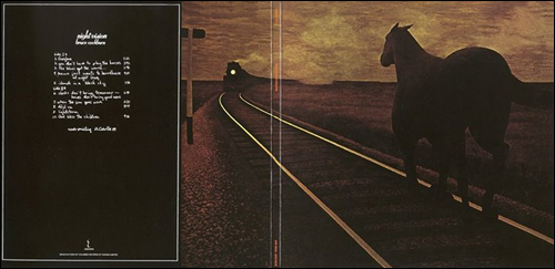 Bruce Cockburn - Night Vision album cover - Horse and Train by Alex Colville