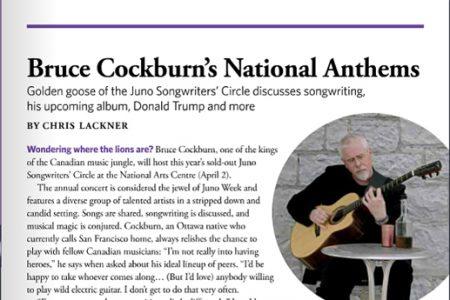 Bruce Cockburn's National Anthems - interveiw by Chris Lackner - Where Ottawa