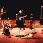 Bruce Cockburn - Ben Riley - Steve Lucas - 2000Feb11 soundcheck Seattle - photo Daniel Keebler