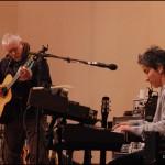 Bruce Cockburn & Julie Wolf - Mateel CC soundcheck 22Feb2004 - photo Kim Sallaway