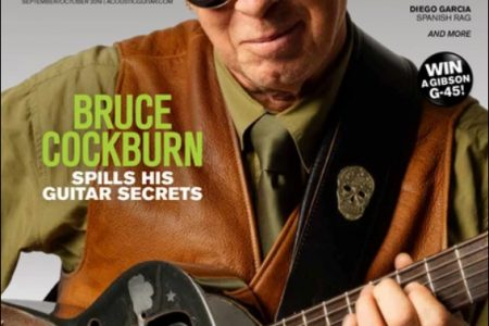 Bruce Cockburn - Acoustic Guitar Magazine cover Issue Sept-Oct 2019