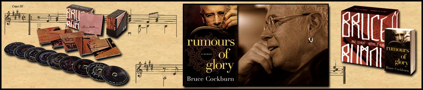 Bruce Cockburn- Rumours of Glory banner - photo Daniel Keebler 2010